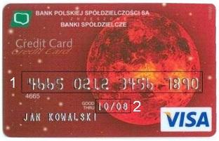 Numer Karty Kredytowej Debetowej Kod Cvv2 Cvc2 Data Waznosci